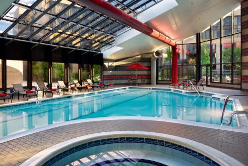Indoor Pool at the Hilton Washington Dulles Airport Hotel